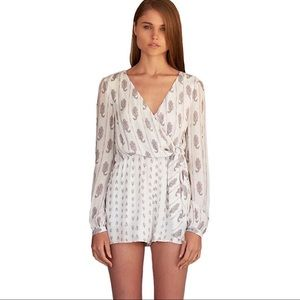 The Jersey Diaries Hayworth Long Sleeve Romper